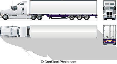 kommerciel, hi-detailed, semi-truck