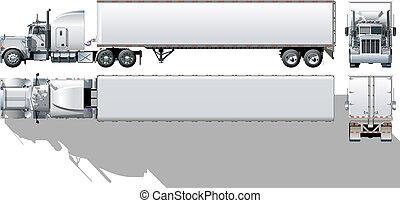 kommerciel, semi-truck