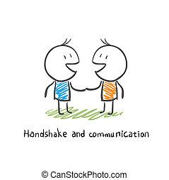 kommunikation, håndslag