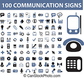 kommunikation, tegn, 100