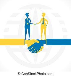 kompagniskab, relation, eller, firma