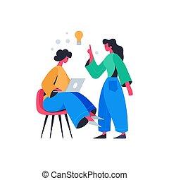 komposition, online, ide, undervisning