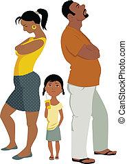 konflikten, familie, affects, børn