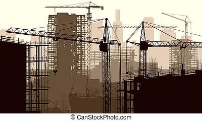 konstruktion site, bygninger.