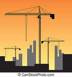 konstruktion site, sunset.