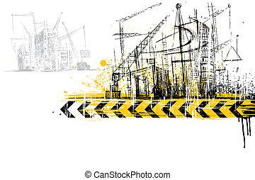 konstruktion site, under