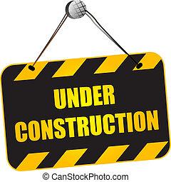 konstruktion under, tegn