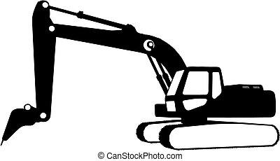 konstruktion, (vector), køretøjene