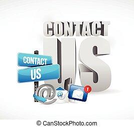kontakt, email, begreb, os