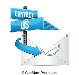 kontakt, email, os, tegn