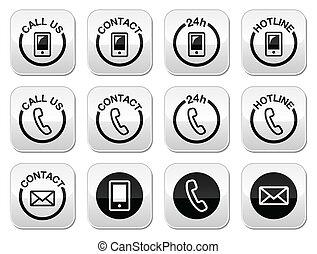 kontakt, knapper, 24h, hotline, hjælp