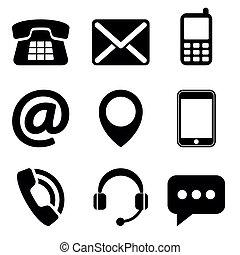 kontakt os, iconerne