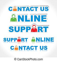 kontakt os, online