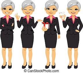 kontor, businesswoman, senior