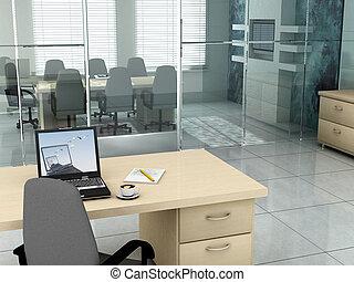 kontor, formiddag