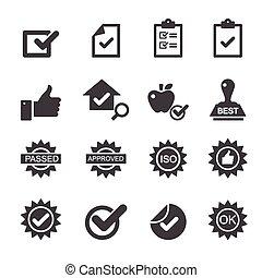 kontrol, kvalitet, iconerne