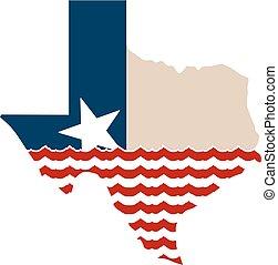 kort, skrap, understøttelse, hvornår, afrejse, goings, det får, texas
