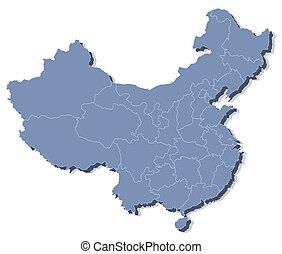 kort, vektor, republik, folkets, kina, (prc)