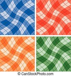 krøllen, mønstre, plaid