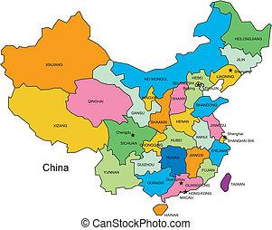 kredse, administrative, kina