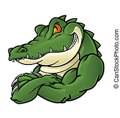 krokodille, mascot