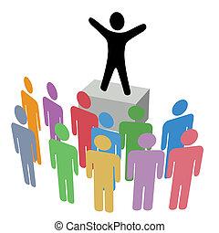 kundgørelse, soapbox, gruppe, kampagne, kommunikation