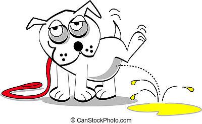 kunst, hund, hæfte
