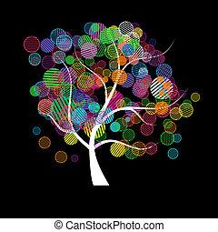kunst, træ, fantasien