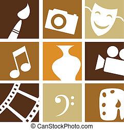 kunster, kreative, iconerne