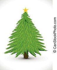 kunstneriske, jul, abstrakt, træ