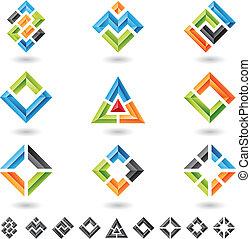 kvadraterer, rektangler, trekanter