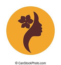 kvinde, amerikansk ikon, zeseed, afrikansk