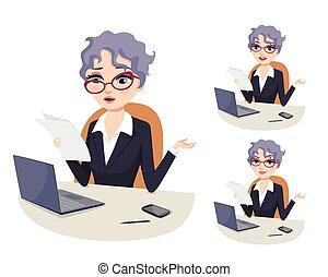 kvinde, karriere, arbejde, mægtige, professionel, politik, overvæld, bureaukratiske