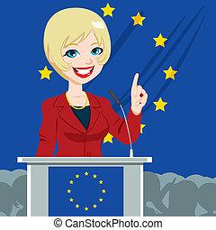 kvinde, politiker, kandidat, europæisk