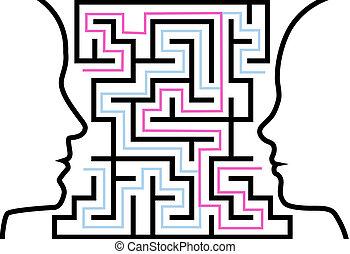 kvinde, udkast, opgave, profiler, zeseed, labyrint, mand