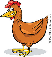 kylling, cartoon