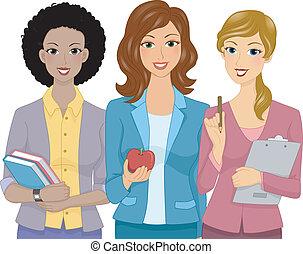lærere, kvindelig