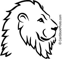 løve, anføreren, side