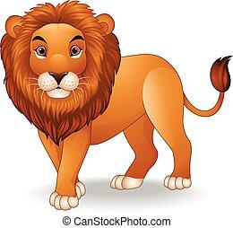 løve, karakter, cartoon