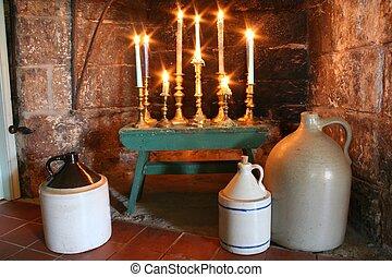 land, candelabrum