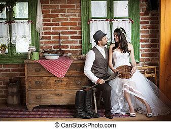 land, firmanavnet, soignere, bryllup, brud