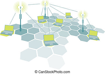 laptops, trådløs, forbinde, netværk, /