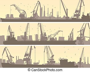 last, industriel, havn, crane.