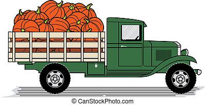 lastbil, pumpkin