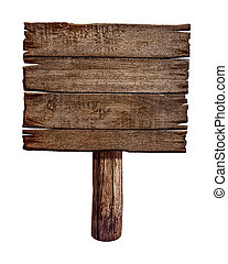 lavede, gamle, af træ, wood., tegn, board., poster, panel