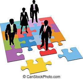 ledelse, folk branche, opgave, løsning, ressourcer