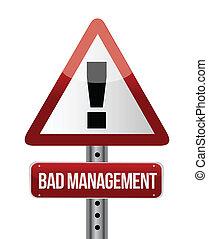 ledelse, illustration, tegn, ond., advarsel, vej