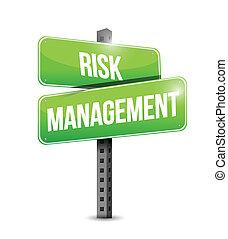 ledelse, risiko, illustration, tegn, konstruktion, vej