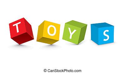 legetøj blokerer, illustration