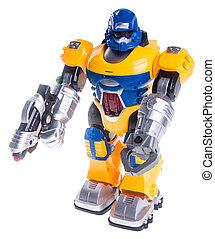 legetøj robot, baggrund